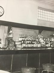 The way it was. Jack Ryan's bartop in the early 1970s prior to its relocation to the other side of the building