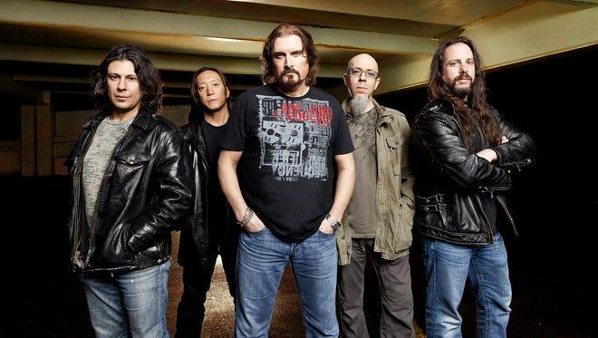 Dream Theater (from left): Mike Mangini, John Myung, James LaBrie, Jordan Rudess and John Petrucci.