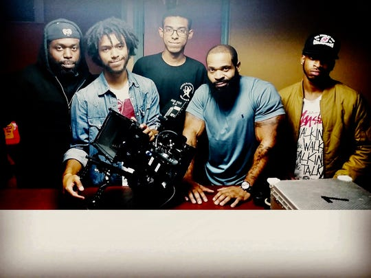 "The Benjamins and the Maksons plan to work on another film together following 2016's ""Moves We Make."" Pictured from left to right are ""Moves We Make"" producer Lamar Mackson, cameraman Kalani Jimenez-Mackson, production assistant Isaiah Mackson, screenwriter J.M. Benjamin, and composer Jameel Benjamin, also known as the rapper Base."