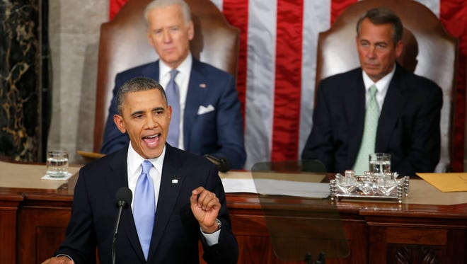 President Obama delivers his State of the Union Address on Jan. 28.