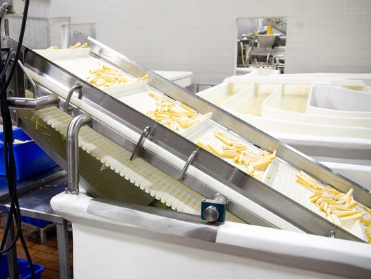 String cheese is seen at Baker Cheese in Fond du Lac