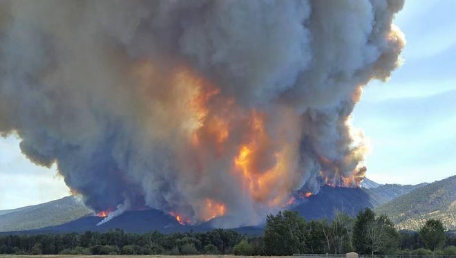The Roaring Lion fire is seen Sunday in this InciWeb photo.