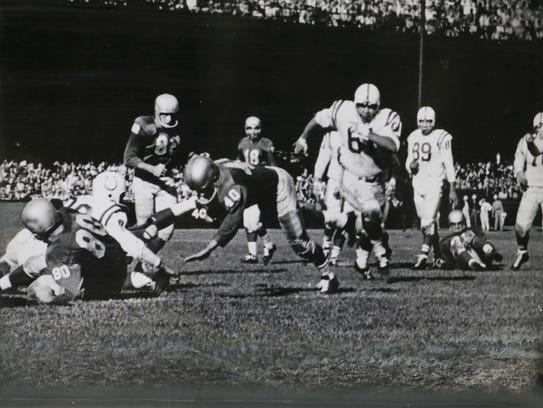 Memorabilia from the 1957 Detroit Lions championship