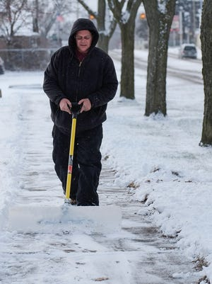 Up to three inches of new snowfall is expected in the Lansing region by 1 a.m. Tuesday.