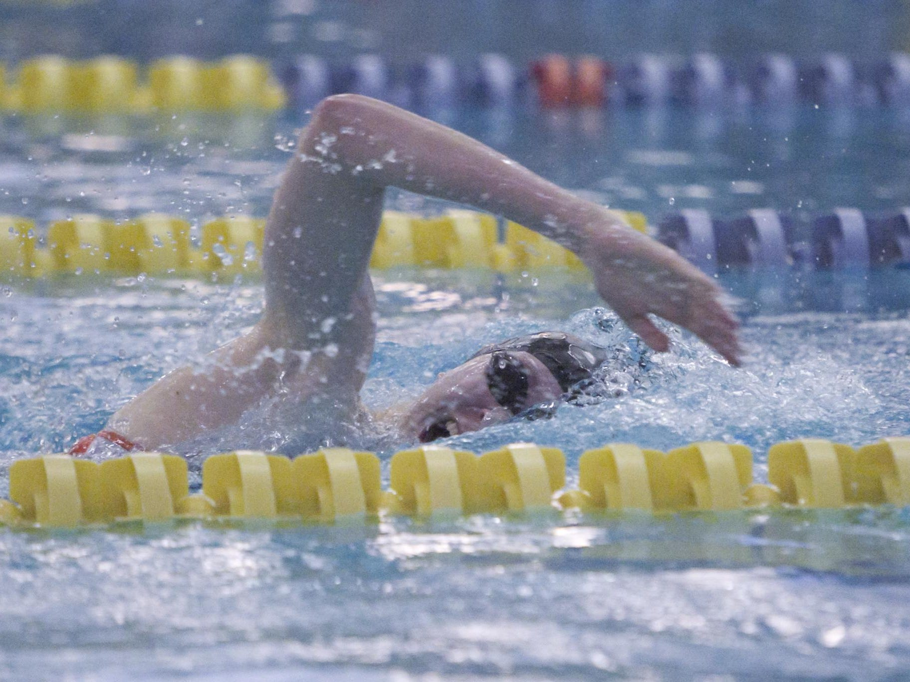 Brighton's Taylor Seaman took first in the 100- and 200-yard freestyle on Thursday night against Hartland.