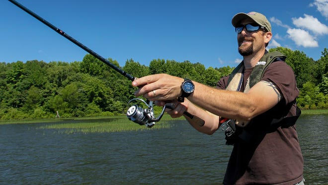 Bass fishing on Lake Maumelle.