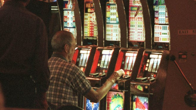 Patrons gamble at a HoChunk casino.