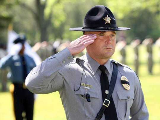 Then-Chief Michael Osborn of the Ocean County Sheriff's