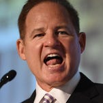 LSU Tigers coach Les Miles addressed the media during SEC media days at the Wynfrey Hotel.