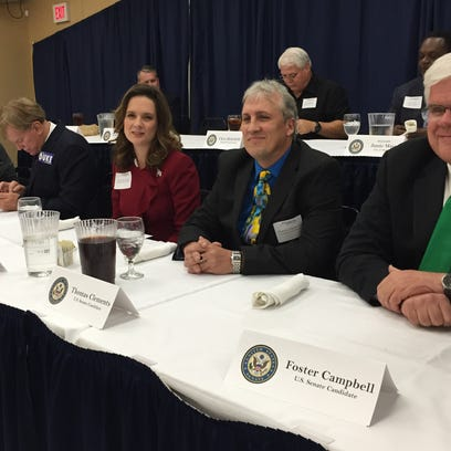 Twelve of the 24 candidates for Louisiana's U.S. Senate seat attended a Monroe Chamber of Commerce forum Tuesday.