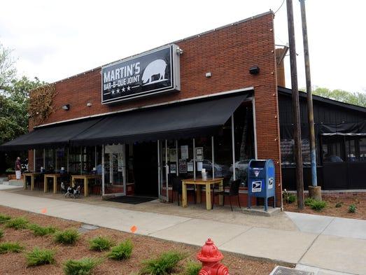 Martin's Bar-B-Que Joint on Belmont Blvd Monday, April 14, 2014 in Nashville, TN.