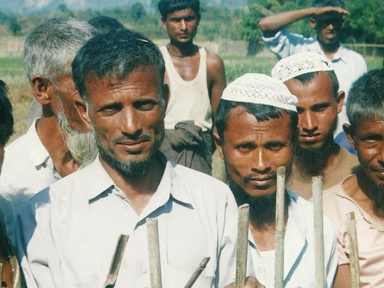 Rohingya men in Rakhine State, Burma.