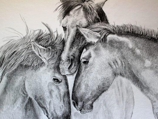 Local artist Michael Nail's sensitive drawings will