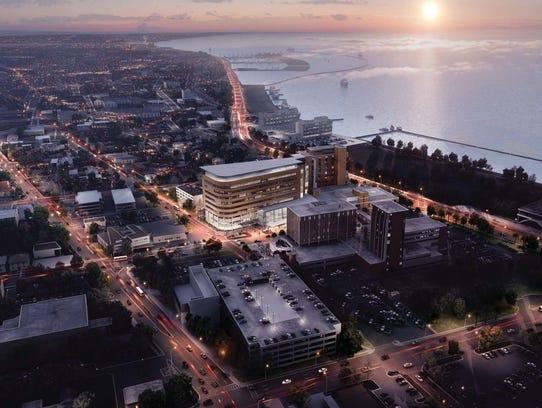 A rendering of Christus Spohn Hospital Shoreline after