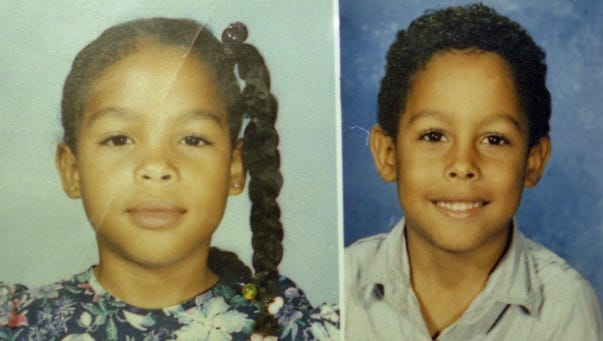 Catherine Jones and her brother Curtis Fairchild Jones, shown in 1990's family photos, were the youngest children ever in the U.S. to be charged as adults for first-degree murder.