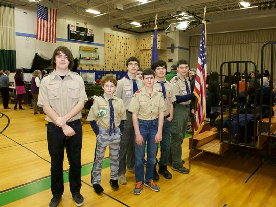 Richmond Boyscout Troop members prepare to parade the