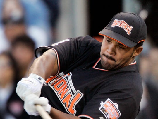Milwaukee Brewers' Prince Fielder hits during the All-Star Home Run Derby in San Francisco, Monday, July 9, 2007.