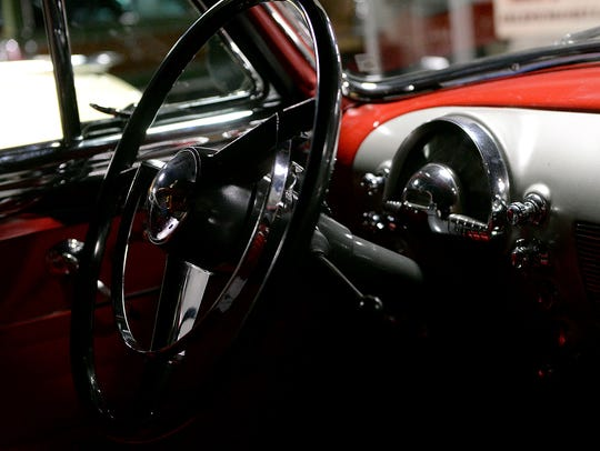 An interior look of a 1950 Oldsmobile 88 convertible