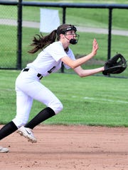 Plymouth's Alexis D'Alexander runs to make the catch