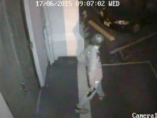 A surveillance video shows Dylann Roof leaving Emanuel
