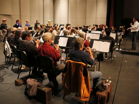The San Juan College Symphonic Band performs a concert