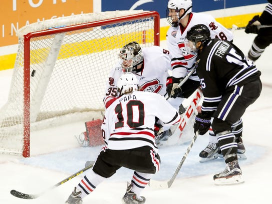 C.J. Franklin's goal makes it four-all during third-period