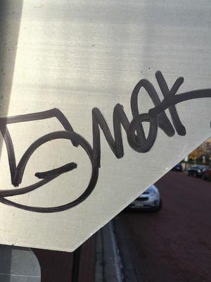 "Over the course of several days, from Oct. 20 through Oct. 23, more than 40 signs and trash cans were vandalized in Wausau's downtown area by a type of graffiti known as ""tagging."""