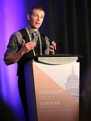 Russell Lehmann giving a speech on an unknown date.