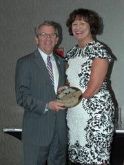 Mayor Lloyd Winnecke presents the Mayor's Art Award
