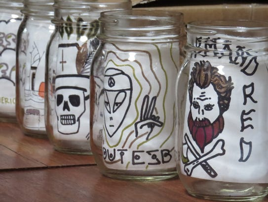 Votes were collected in decorated canning jars during