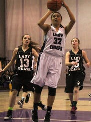 Katelyn Yuzos puts up a shot on Thursday night at the