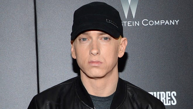 Eminem attends the premiere of 'Southpaw' in New York on July 20, 2015.