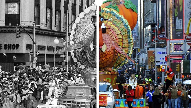 Macy's parade: Yesterday and today.