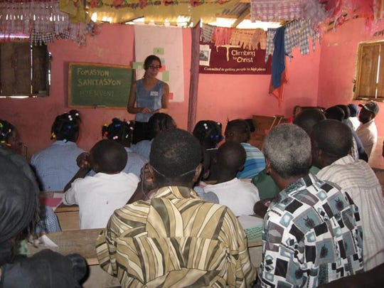 Sarah Brownell in Haiti.