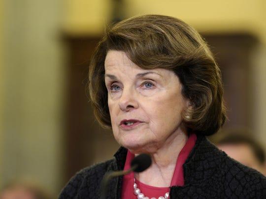 La senadora Dianne Feinstein
