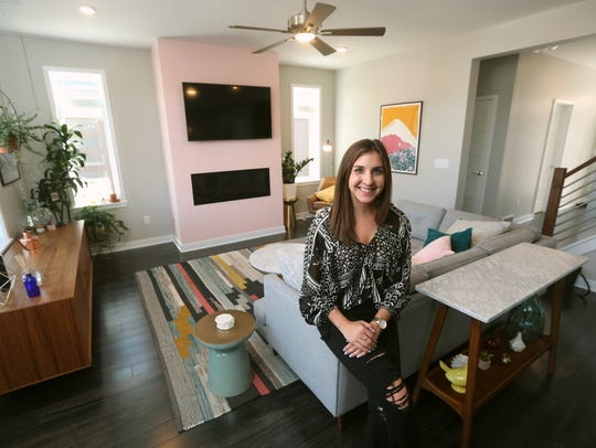 Molly Sanjule is one of the first to live in the new