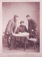 From left: Lt. Luther B. Baker, Col. Lafayette C. Baker
