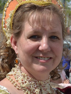 Mia, otherwise known as Dame Dagryning portrays a Lady of Gotland at the Shakespeare Block Party on Saturday.