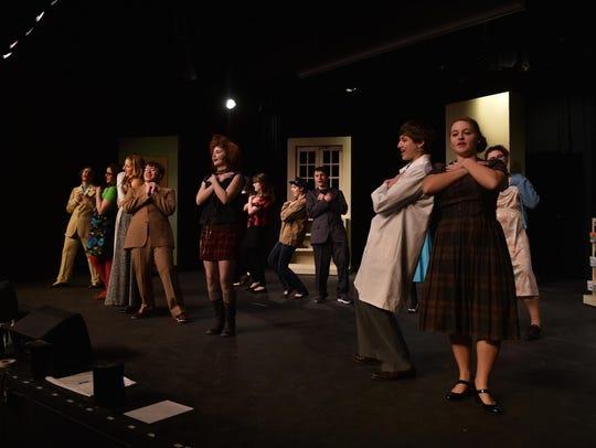"The cast of Sturgeon Bay High School's ""Lucky Stiff''"