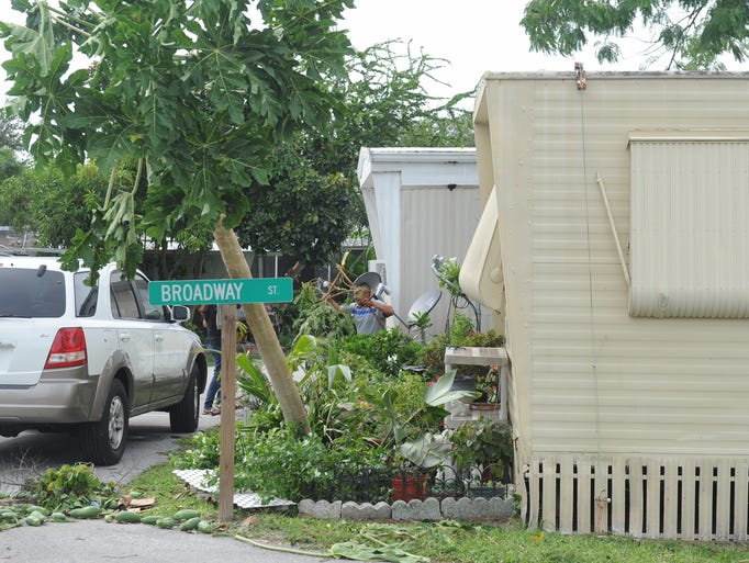 Mobile Home Damage In Martin County
