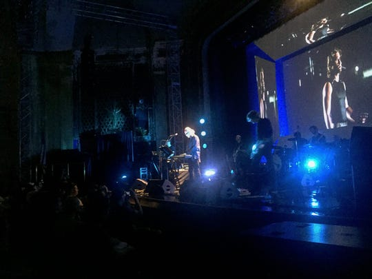 """John Carpenter and his band performing the theme to """"Escape From New York"""" on July 9 at the Keswick Theater in Glenside, Pennsylvania."""