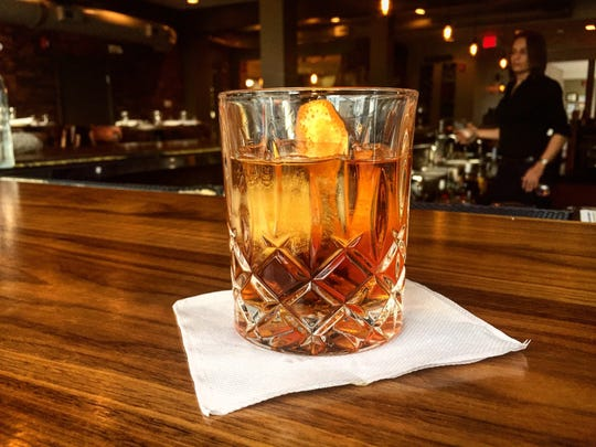 The Three Piece Suit at B2 Bistro and Bar in Red Bank. The drink features WhistlePig rye 10-year-old rye, Meletti Amaro, boomtown and orange bitters for $13.