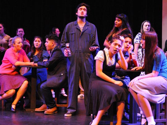 """El Diamante High School drama students rehearse """"All Shook Up"""" at the L. J. Williams Theater."""