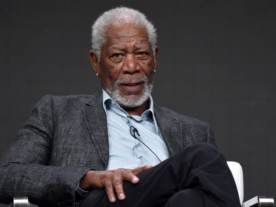 Morgan Freeman participates in 'The Story of Us With Morgan Freeman' panel for National Geographic.