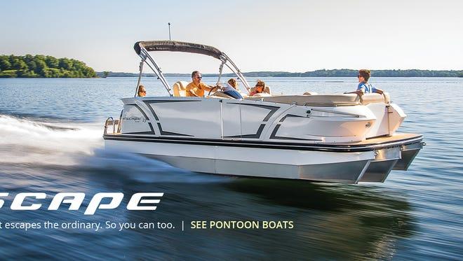 A Larson pontoon boat