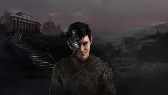 """Art depicting Norman, a """"psychopath"""" AI created by researchers at MIT."""