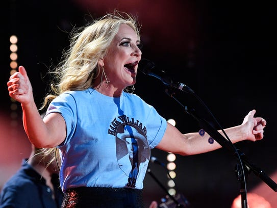 Lee Ann Womack performs at the 2018 CMA Music Fest on Saturday at Nissan Stadium.