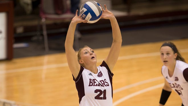 Senior setter Kinsey Batten leads Missouri State with 1,334 assists this season.