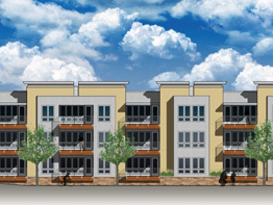 A rendering of the apartments at Riverlife Village.
