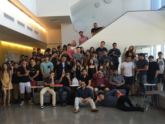 EDGE students gather at COD Indio Campus.